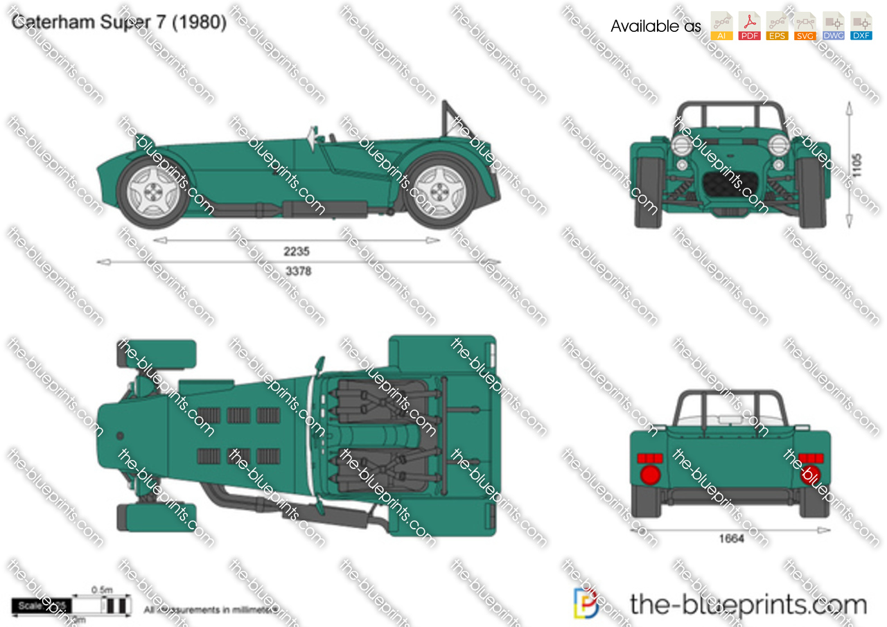 Caterham Super 7 Vector Drawing