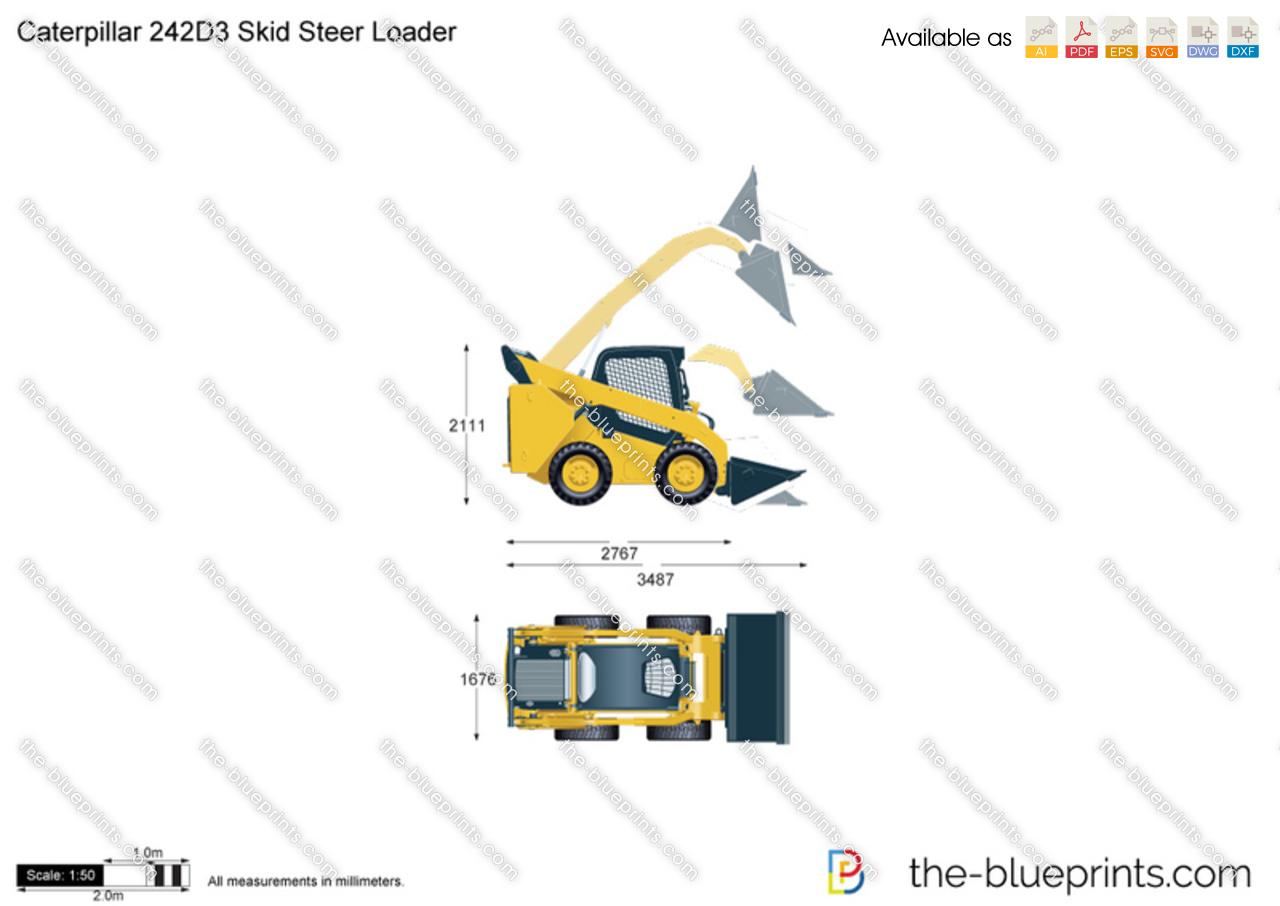 Caterpillar 242D3 Skid Steer Loader