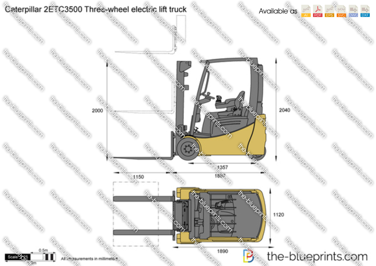 Caterpillar 2ETC3500 Three-wheel electric lift truck