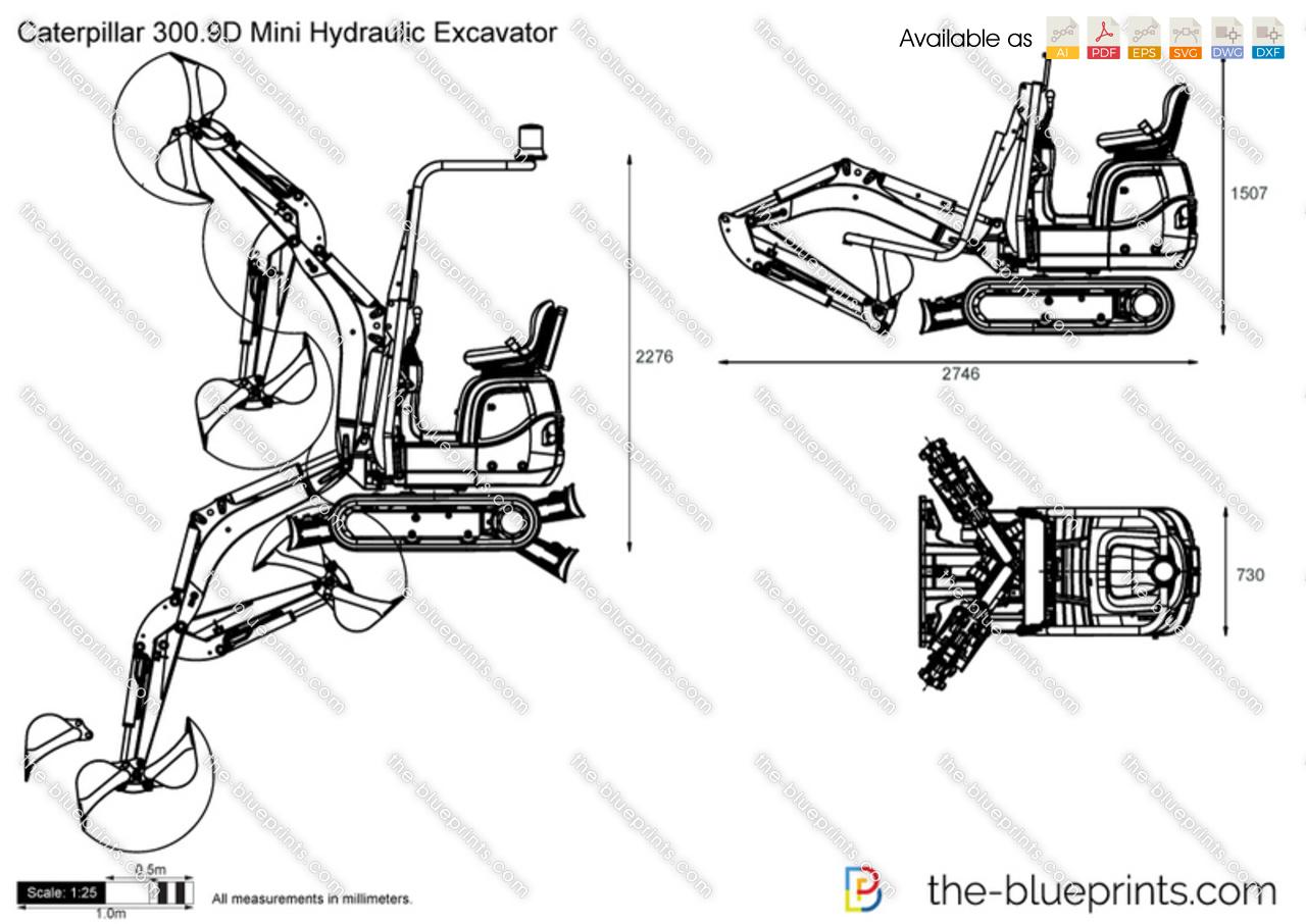 Caterpillar 300.9D Mini Hydraulic Excavator
