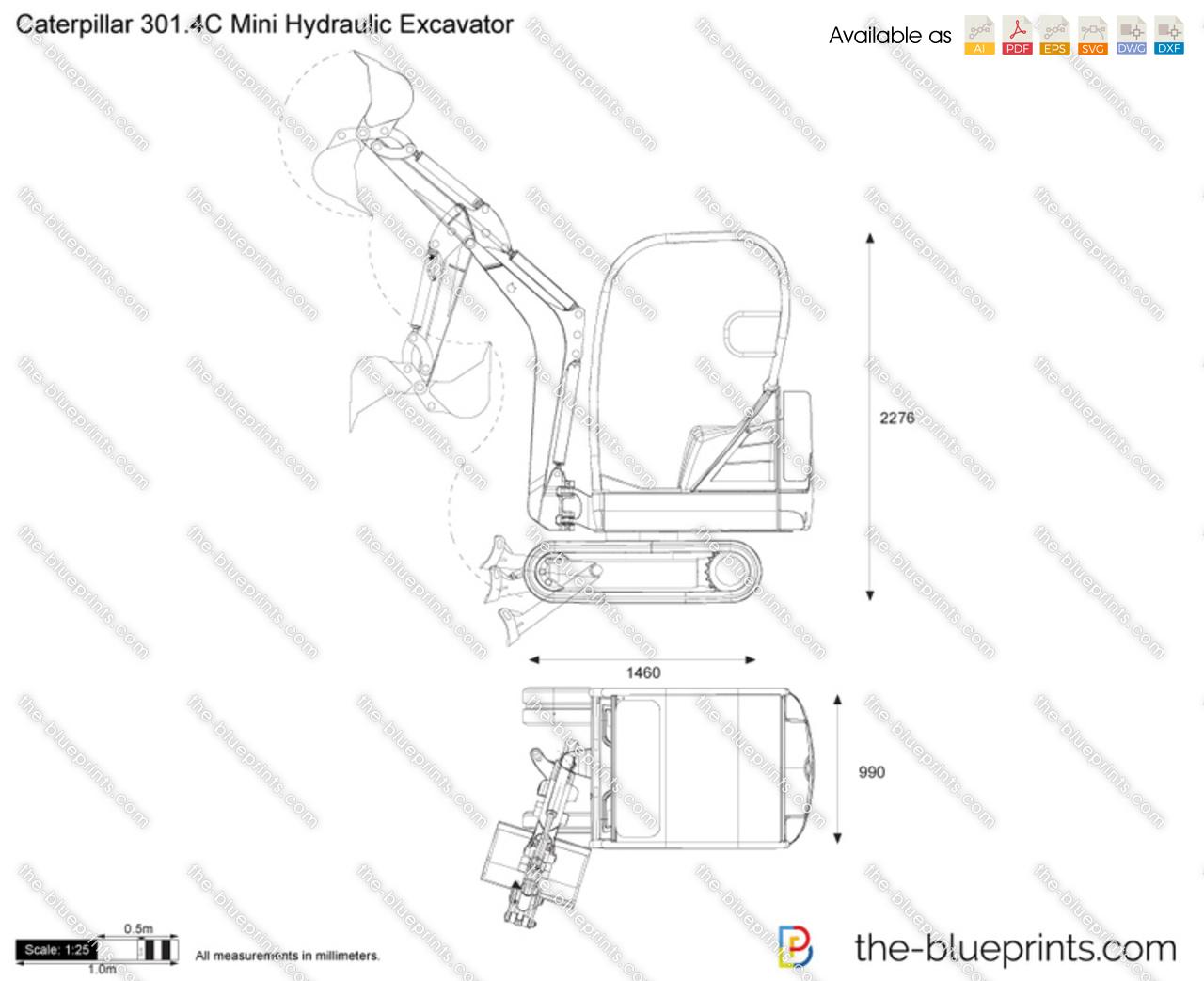Caterpillar 301.4C Mini Hydraulic Excavator