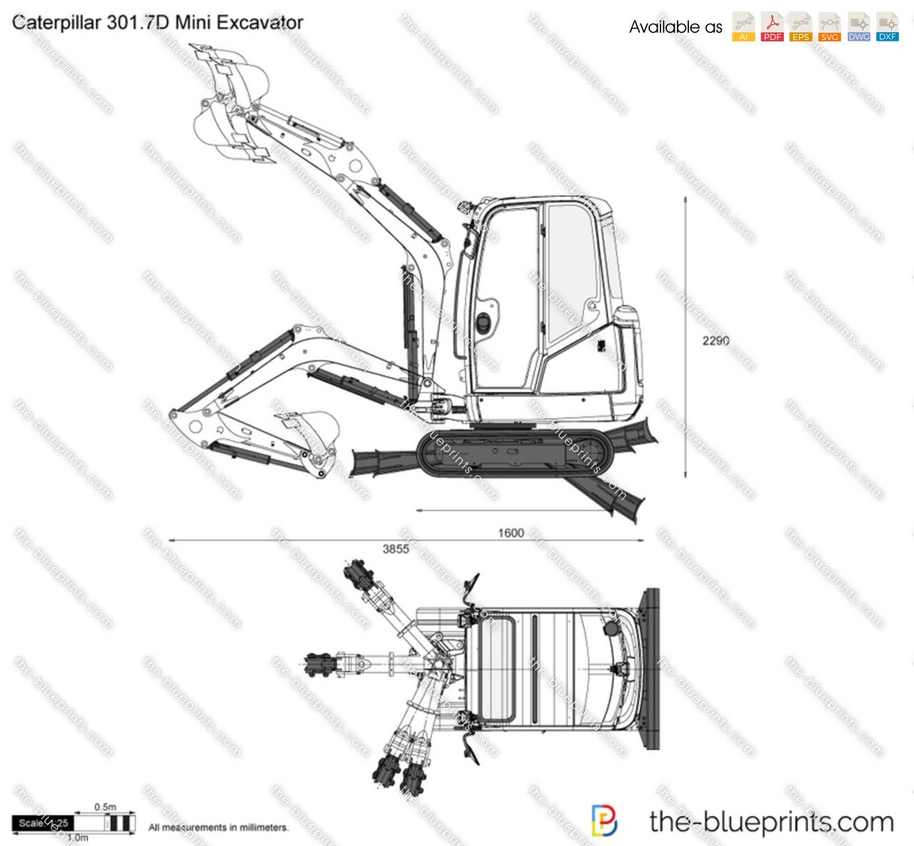 Caterpillar 301.7D Mini Excavator