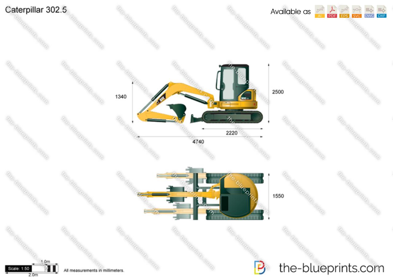 Caterpillar 302.5 Mini Hydraulic Excavator