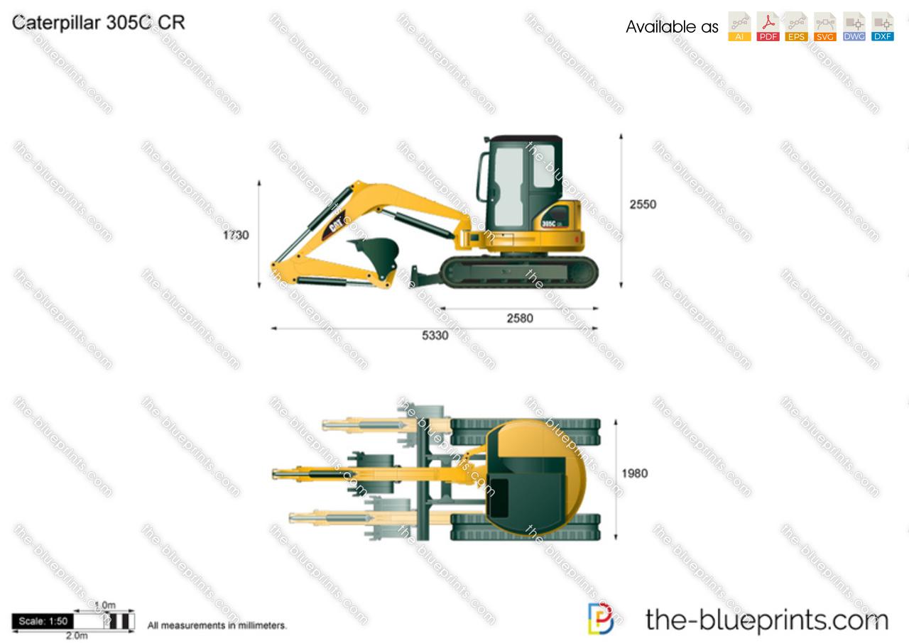 Caterpillar 305C CR Mini Hydraulic Excavator