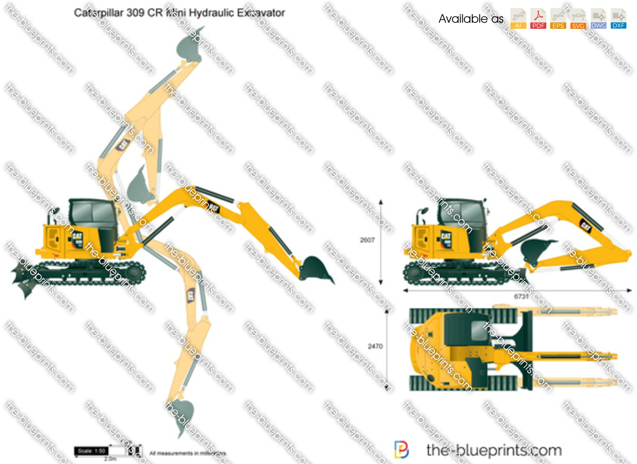 Caterpillar 309 CR Mini Hydraulic Excavator