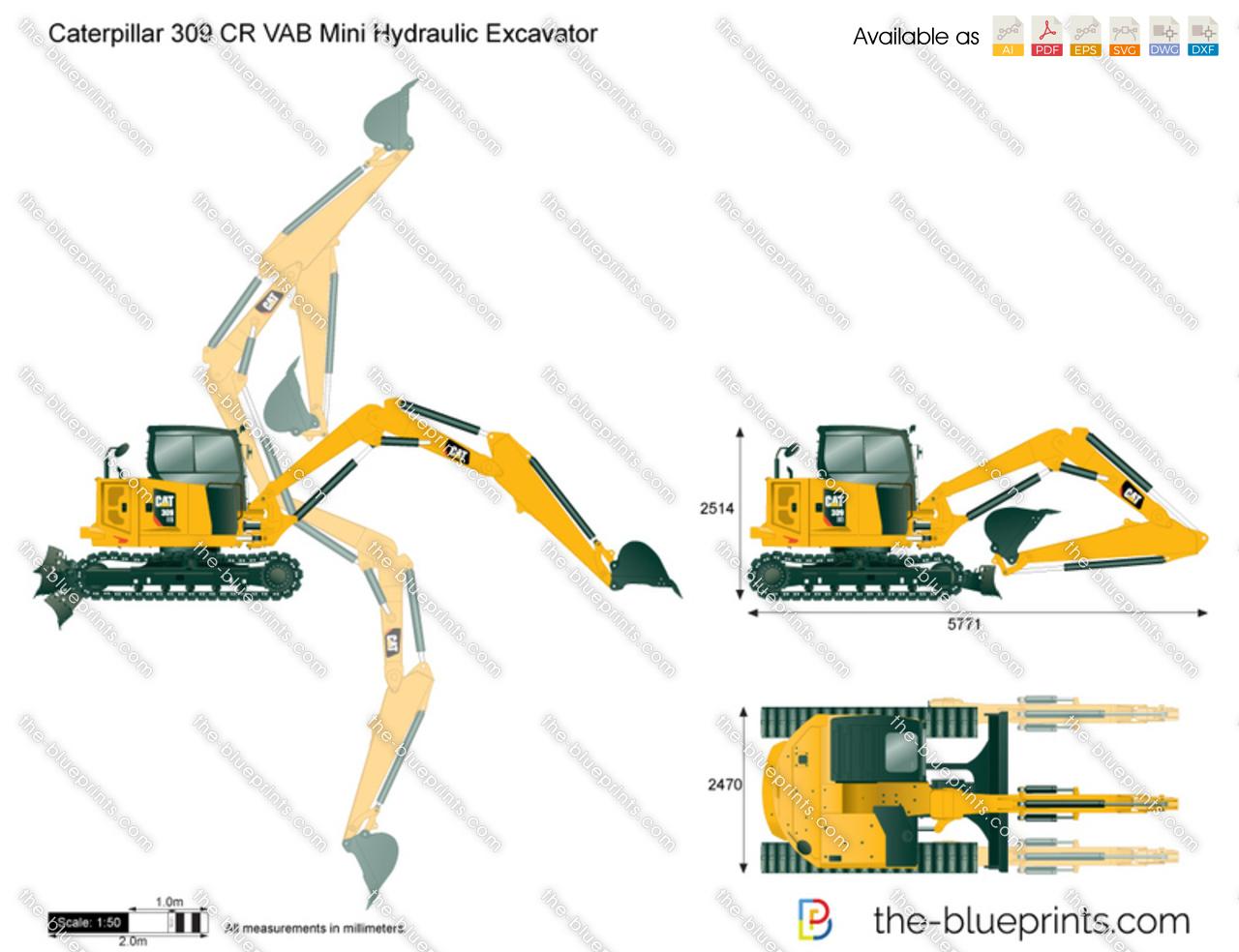 Caterpillar 309 CR VAB Mini Hydraulic Excavator
