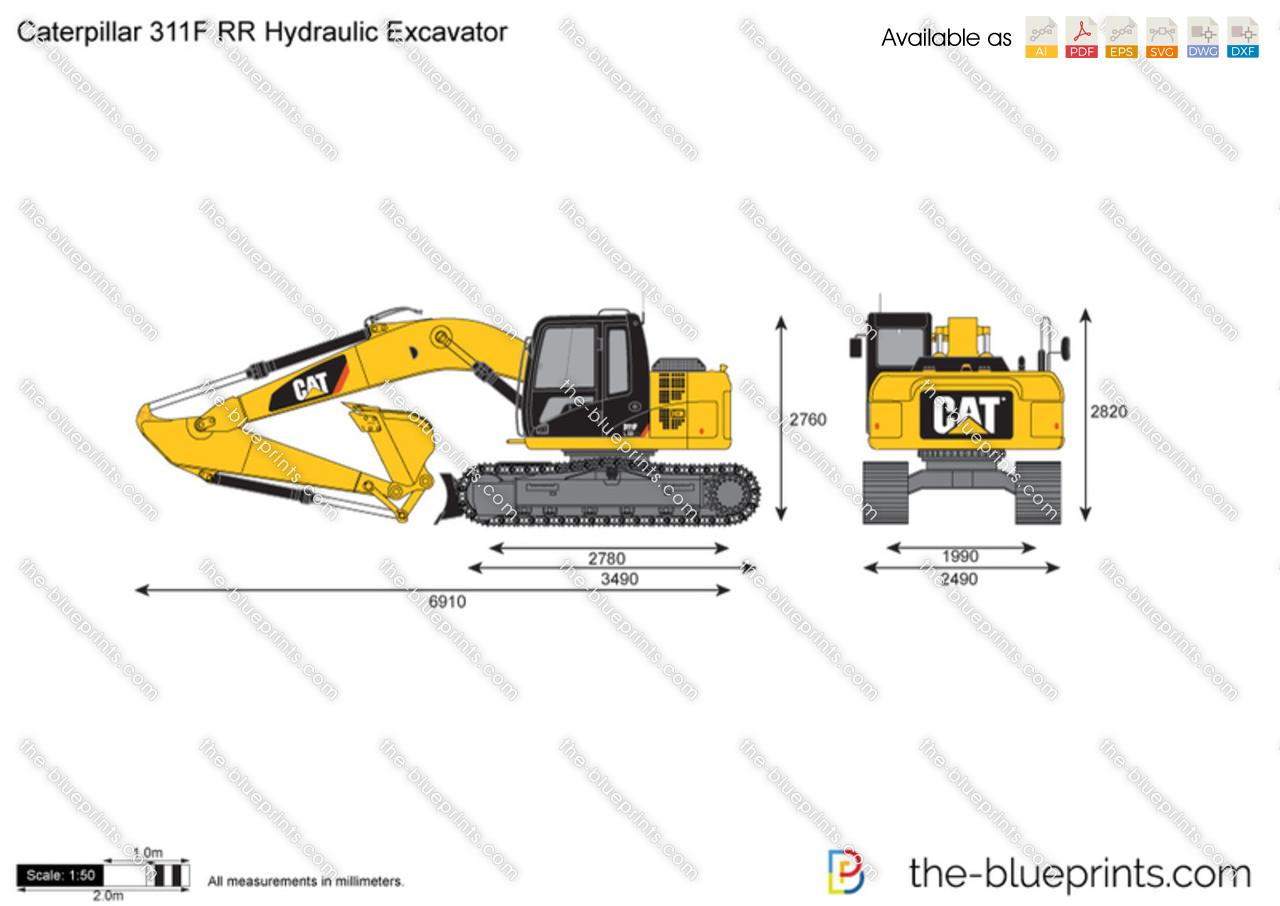 Caterpillar 311F RR Hydraulic Excavator