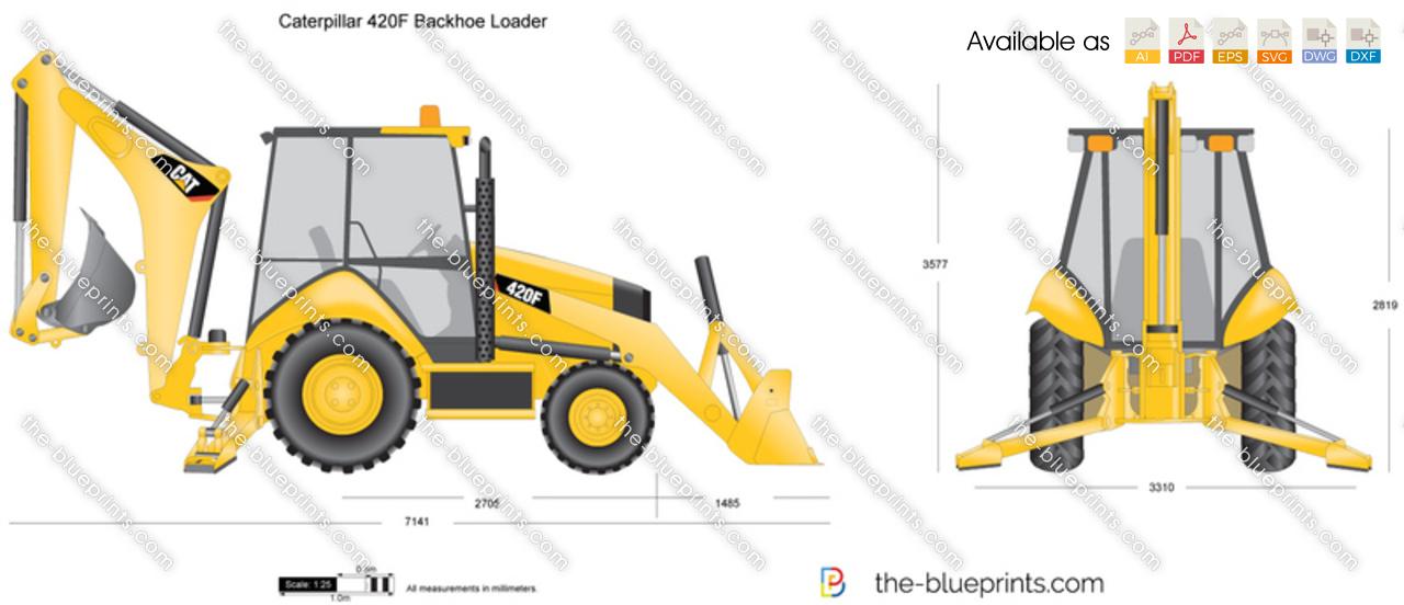 Caterpillar 420F Backhoe Loader