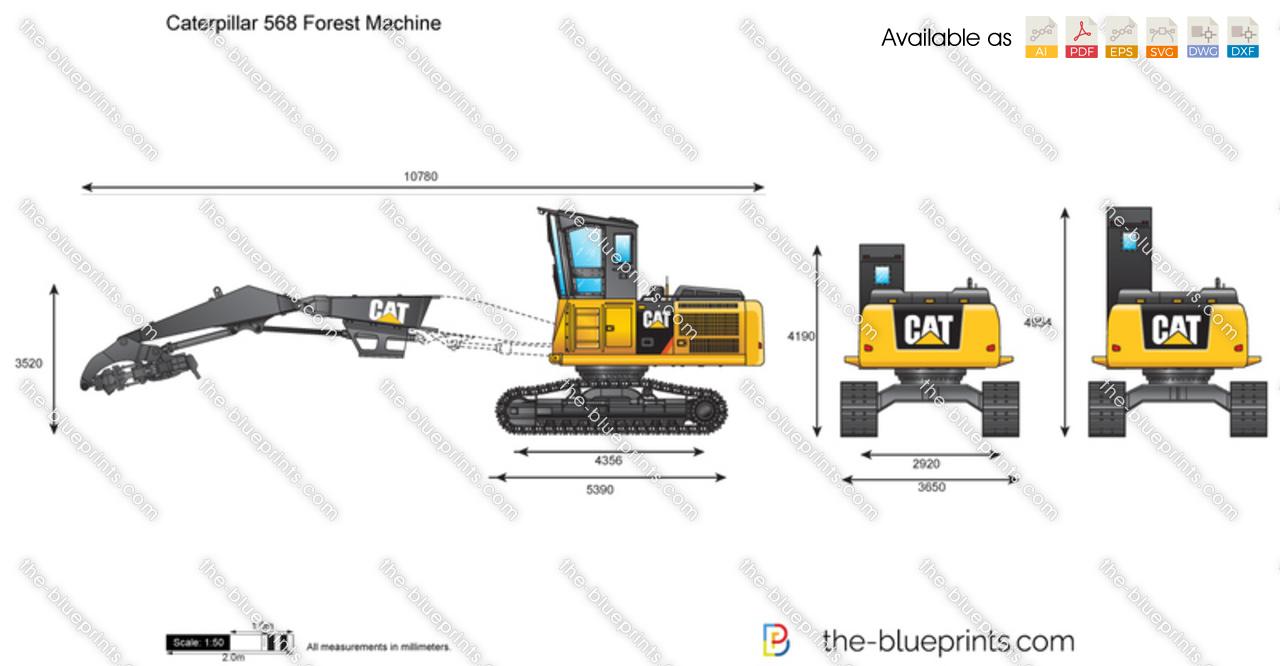 Caterpillar 568 Forest Machine