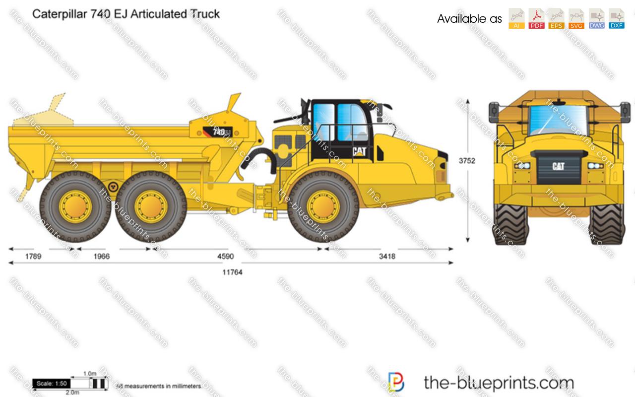 Caterpillar 740 EJ Articulated Truck