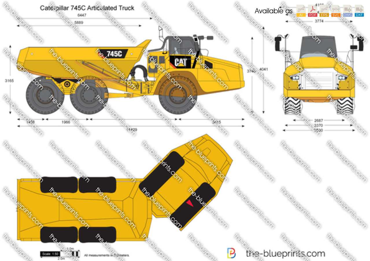 Caterpillar 745C Articulated Truck