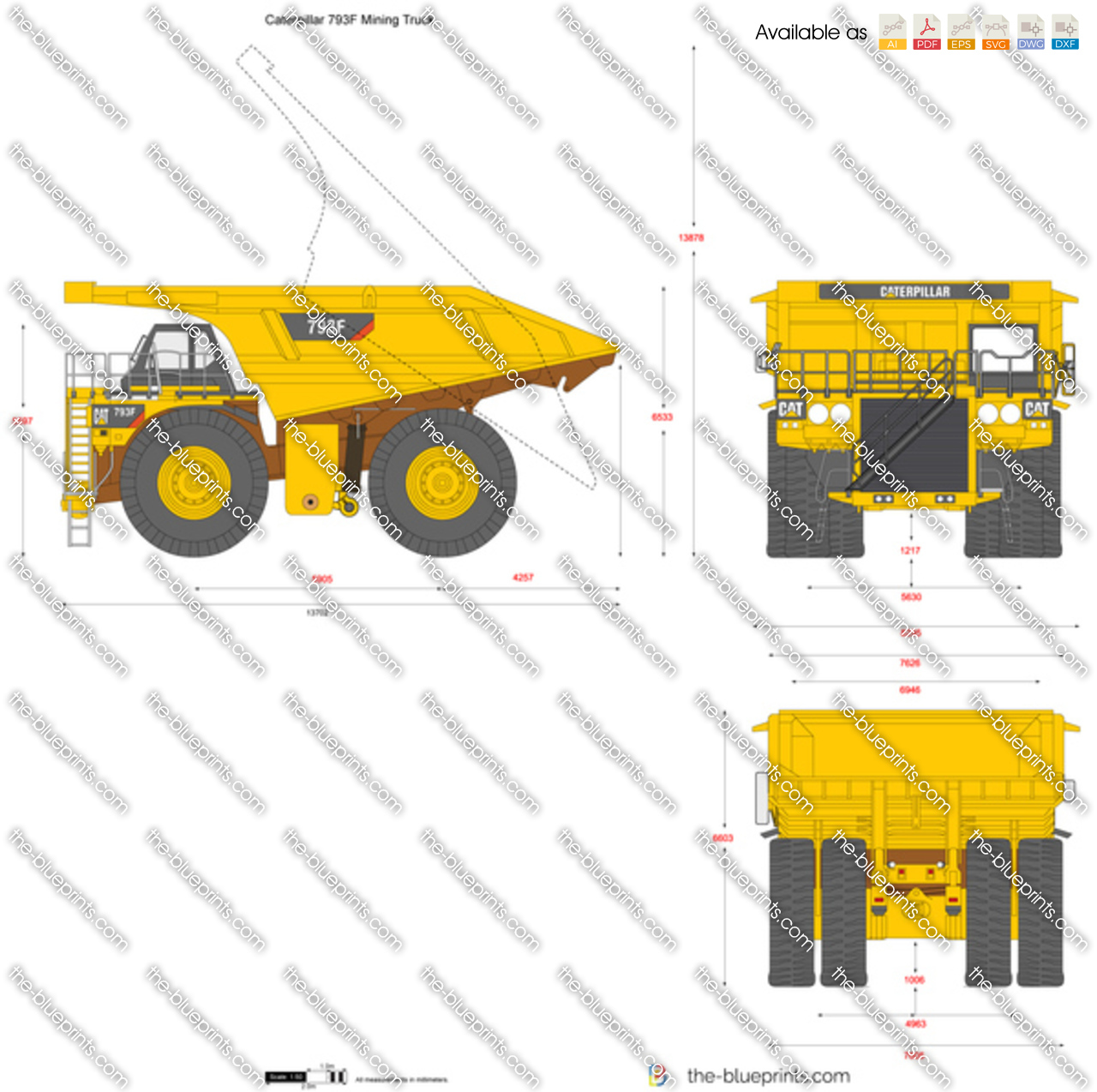 Caterpillar mining truck capacity
