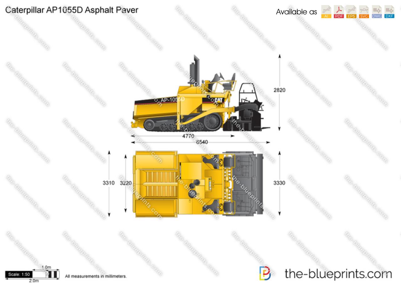 Caterpillar AP1055D Asphalt Paver