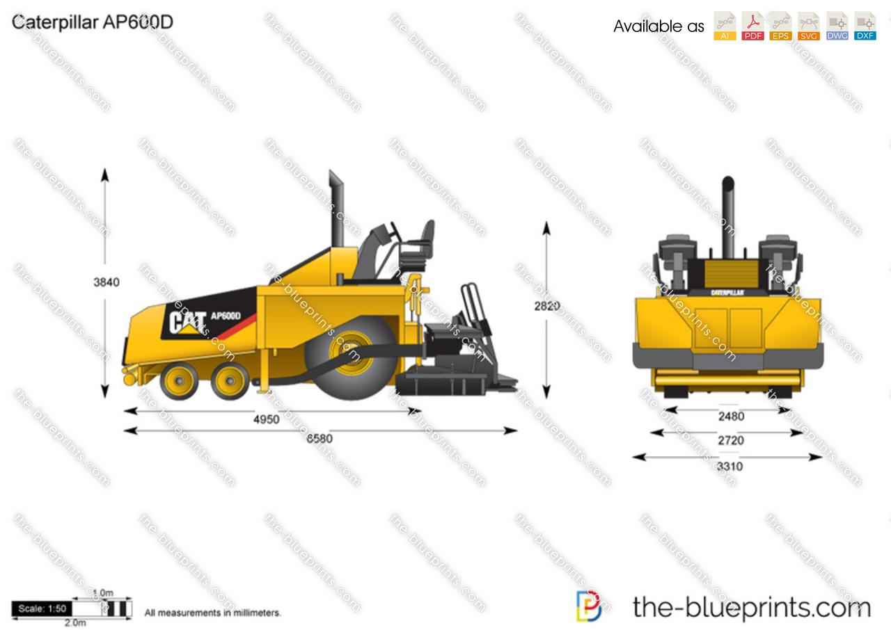Caterpillar AP600D Asphalt Paver
