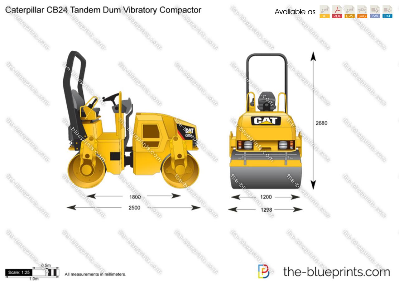 Caterpillar CB24 Tandem Dum Vibratory Compactor