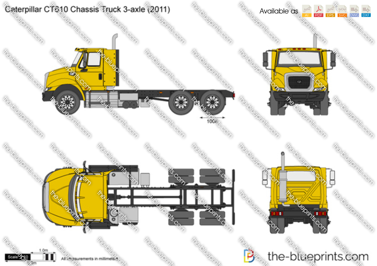 Caterpillar CT610 Chassis Truck 3-axle