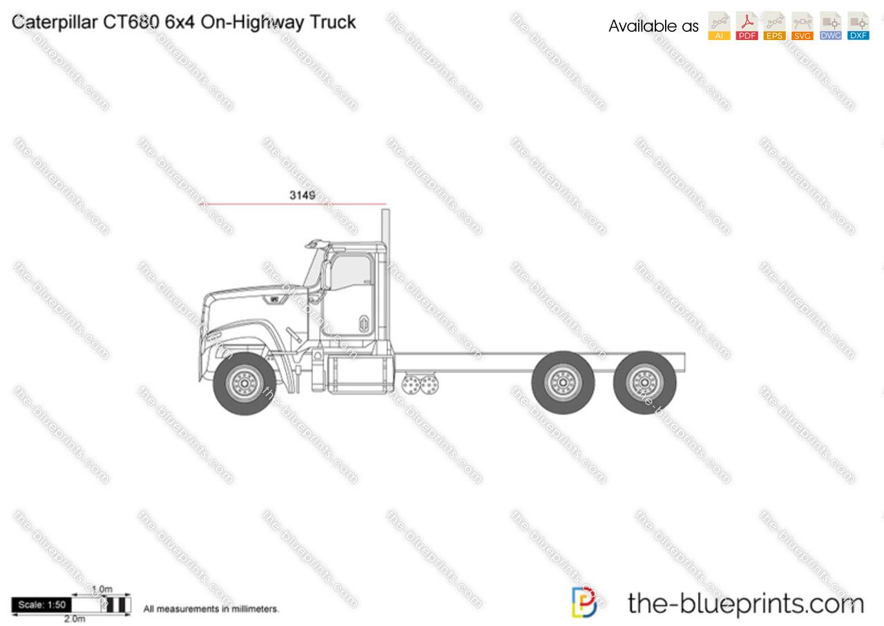 Caterpillar CT680 6x4 On-Highway Truck