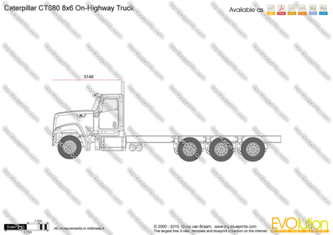 Caterpillar CT680 8x6 On-Highway Truck