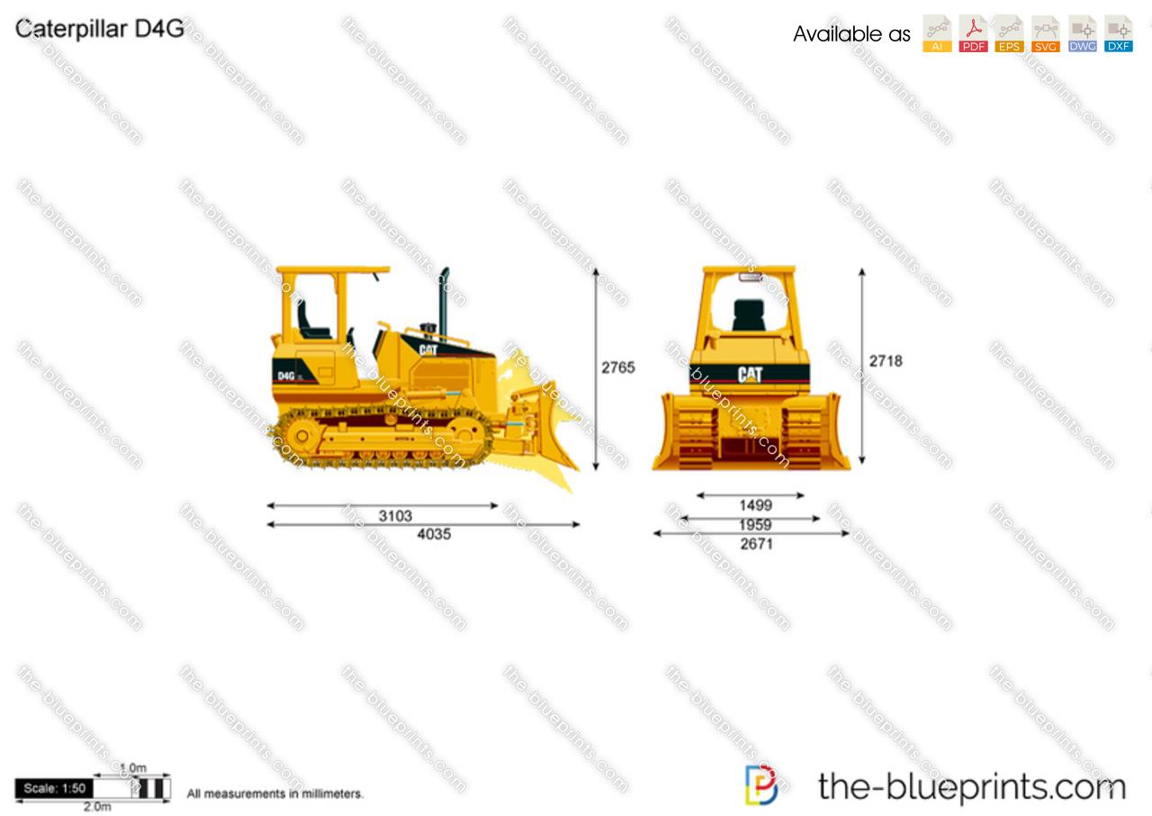 Caterpillar D4G Track-Type Tractor