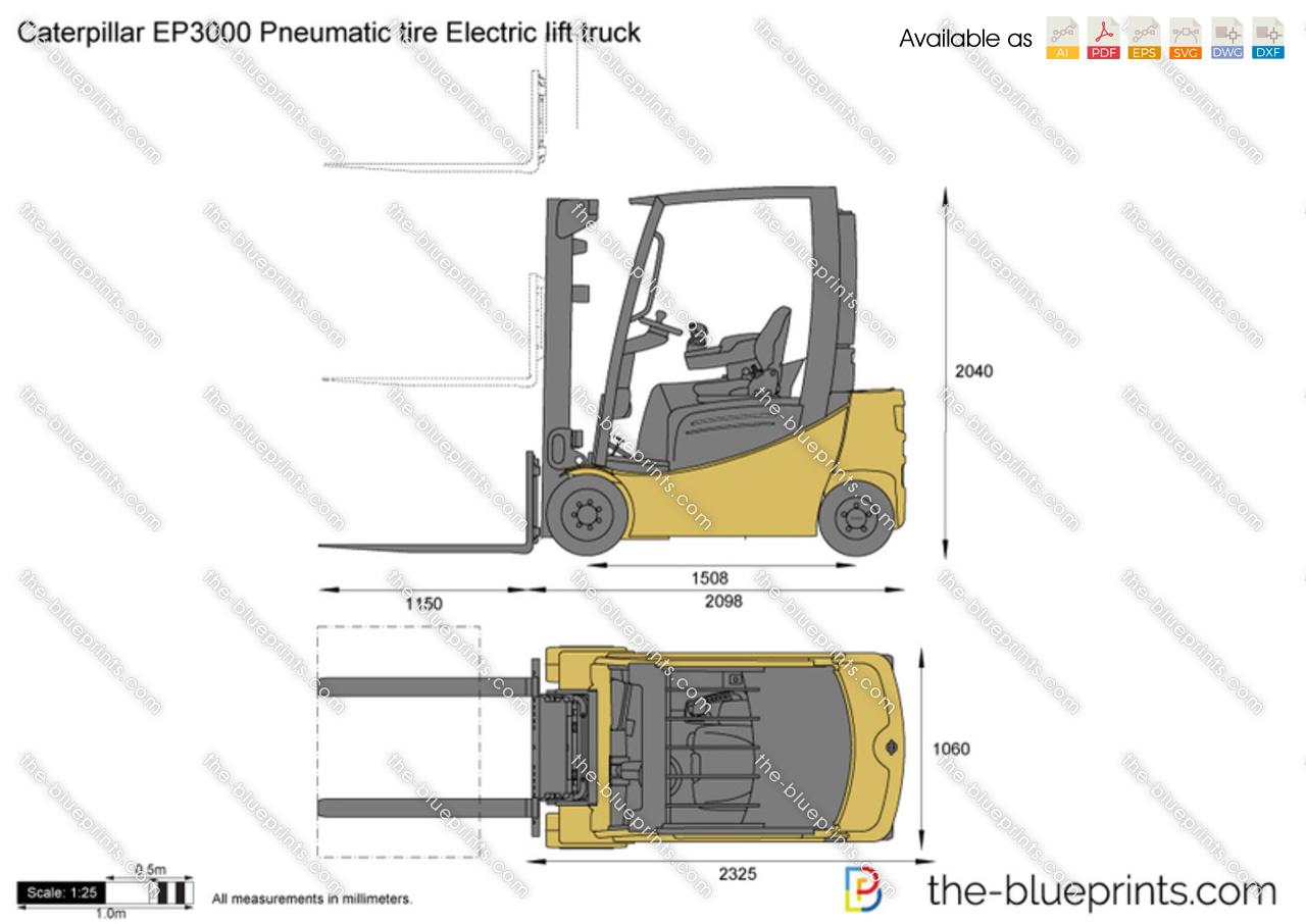 Caterpillar EP3000 Pneumatic tire Electric lift truck