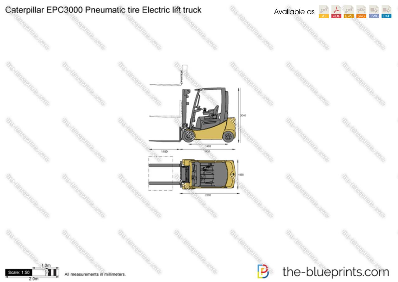 Caterpillar EPC3000 Pneumatic tire Electric lift truck