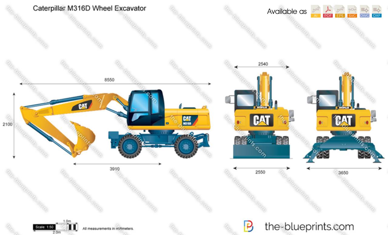 Cat Excavator Clipart Caterpillar m316d wheel