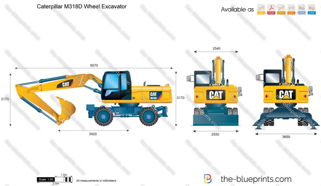 Caterpillar M318D Wheel Excavator