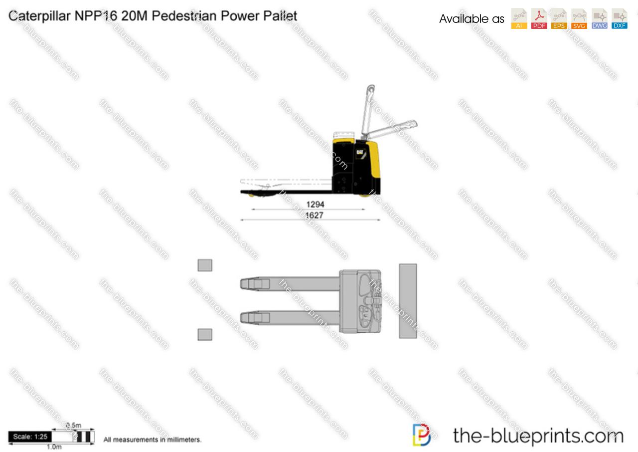 Caterpillar NPP16 20M Pedestrian Power Pallet