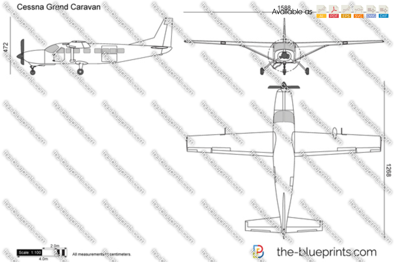 cessna 208 grand caravan vector drawing. Black Bedroom Furniture Sets. Home Design Ideas