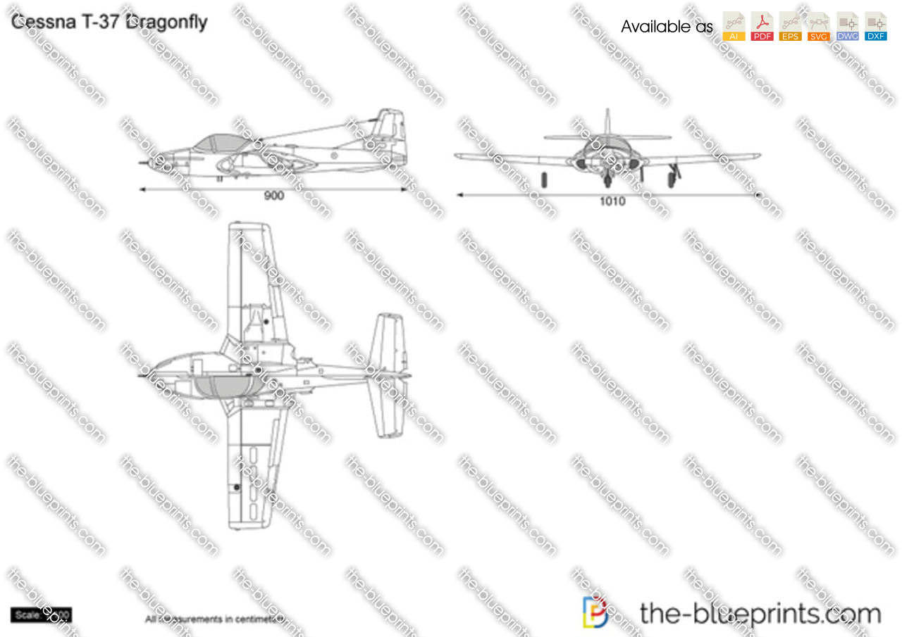 Cessna t 37 dragonfly vector drawing cessna t 37 dragonfly pooptronica Image collections
