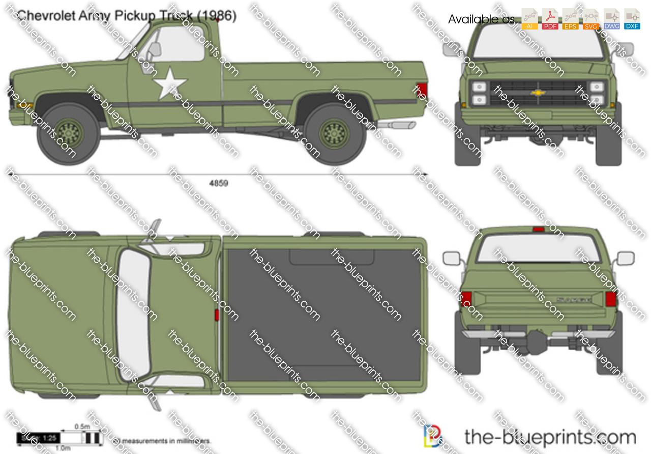 Chevrolet Army Pickup Truck