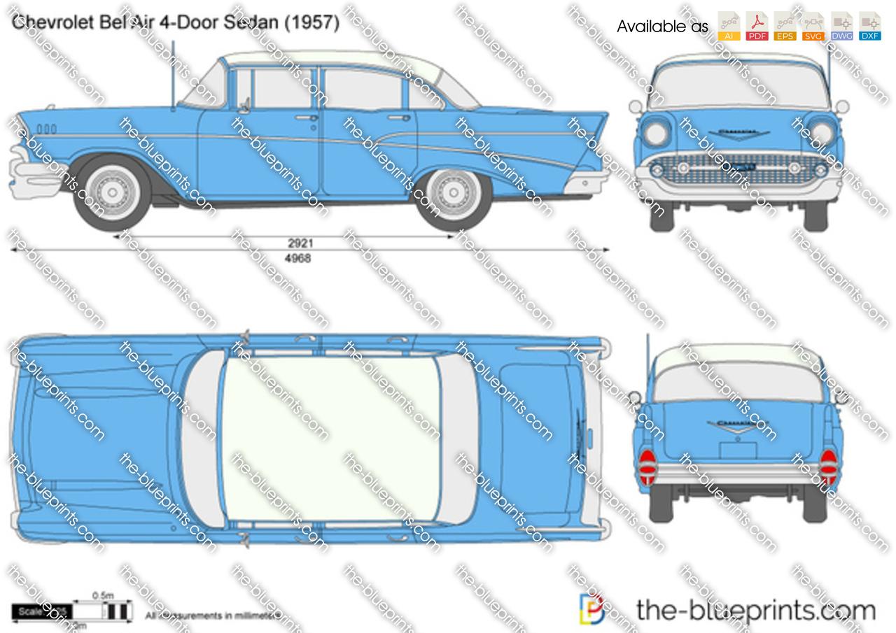 How To Pick A Front Door Color The Blueprints Com Vector Drawing Chevrolet Bel Air 4