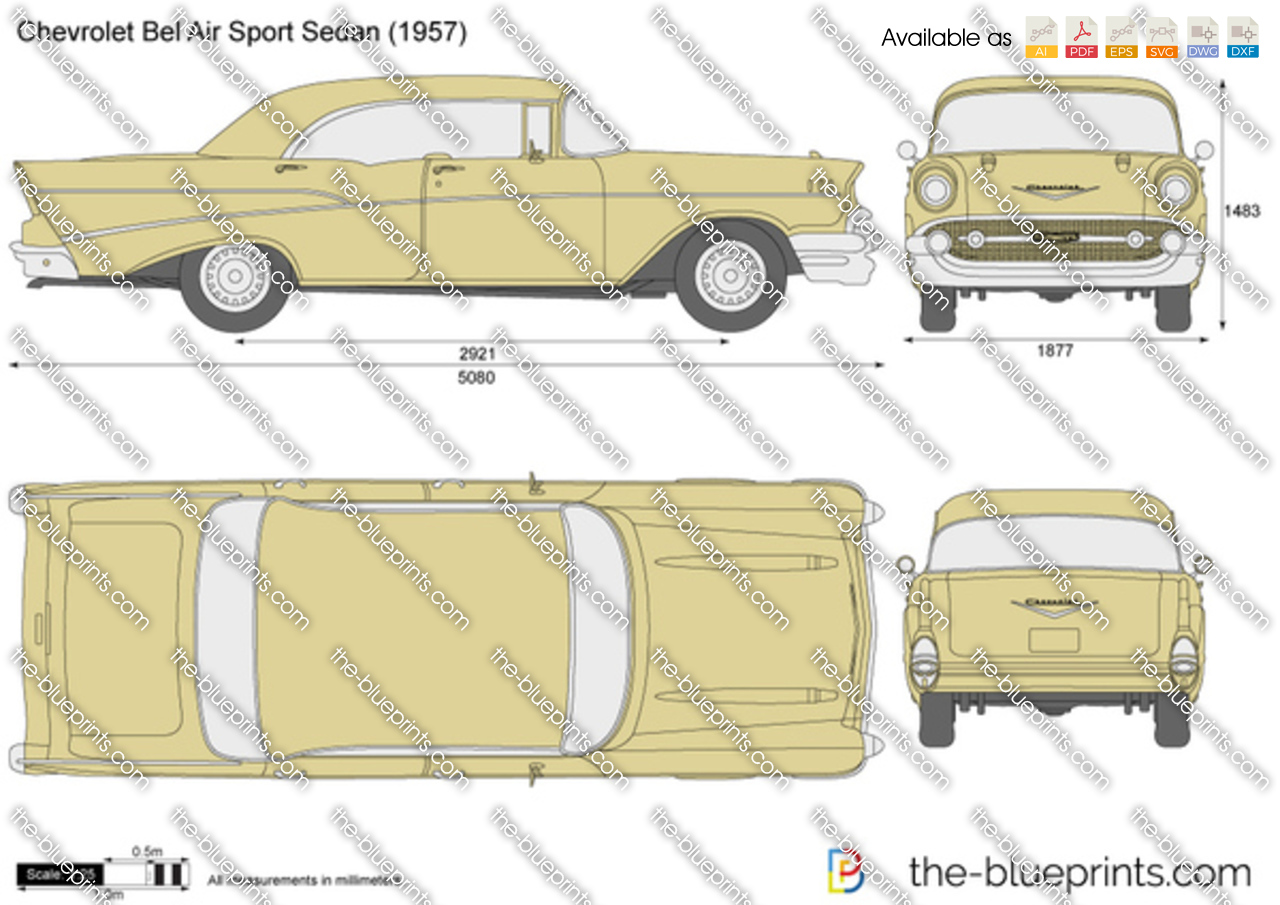 Chevrolet Bel Air Sport Sedan Vector Drawing