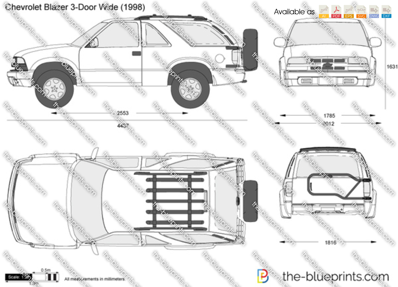 The Blueprints Com Vector Drawing Chevrolet Blazer 3