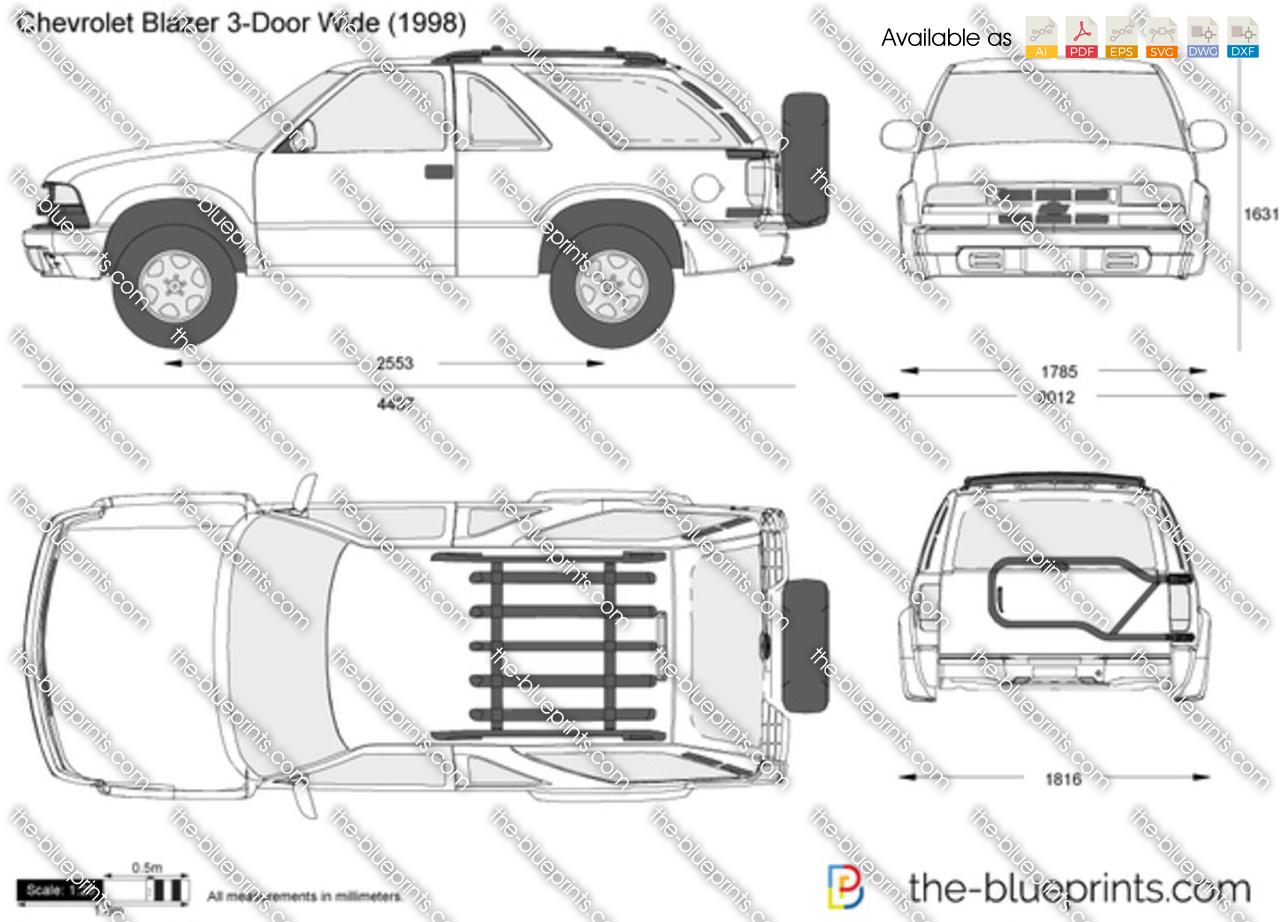 Chevrolet blazer схемы