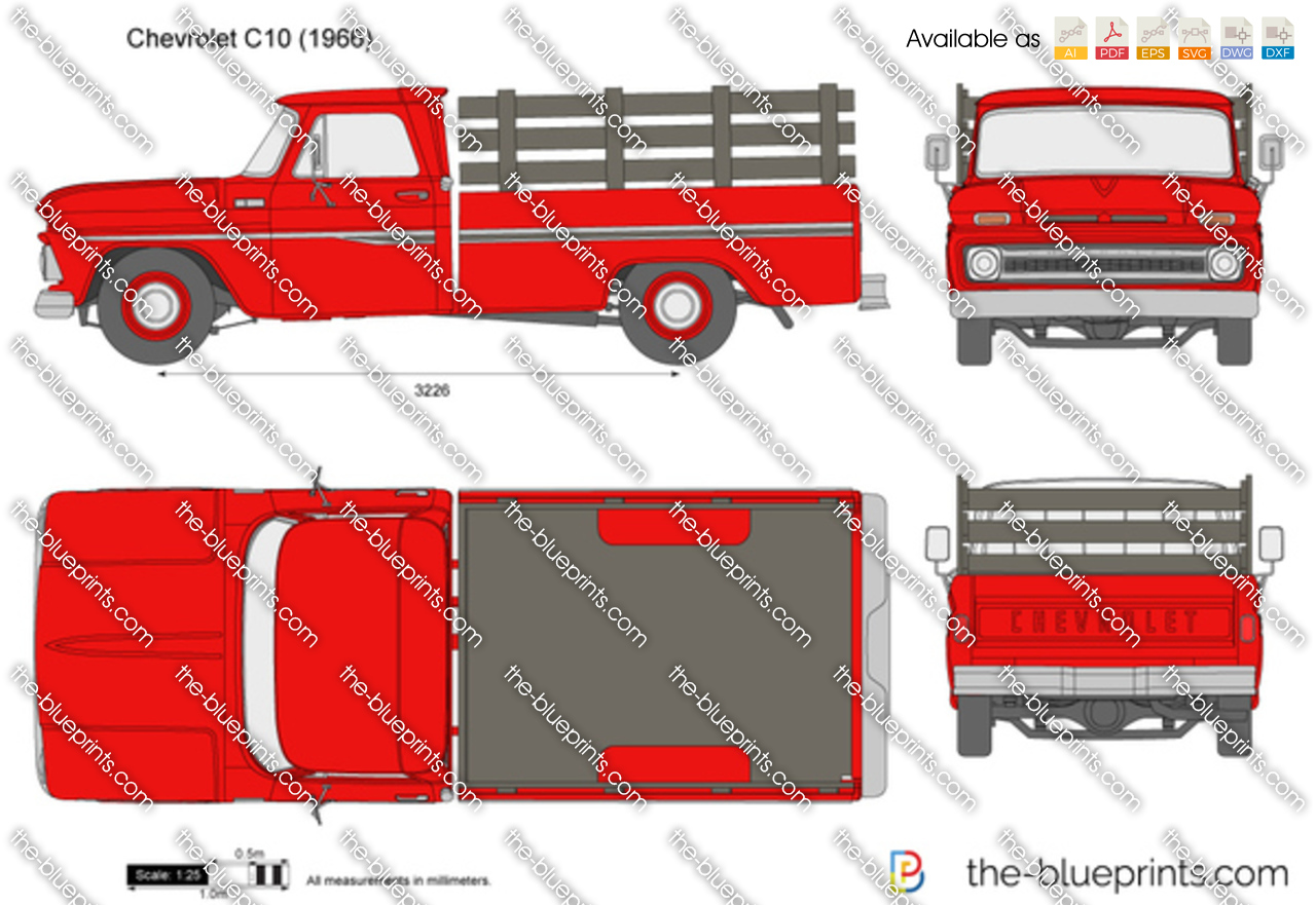 Chevrolet C10 Vector Drawing