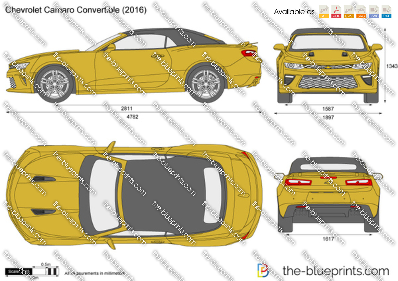 The-Blueprints.com - Vector Drawing - Chevrolet Camaro ...