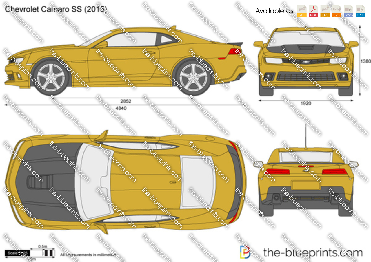 The Blueprints Com Vector Drawing Chevrolet Camaro Ss