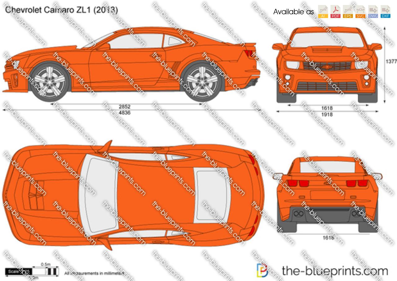 Chevrolet Camaro Zl1 Vector Drawing