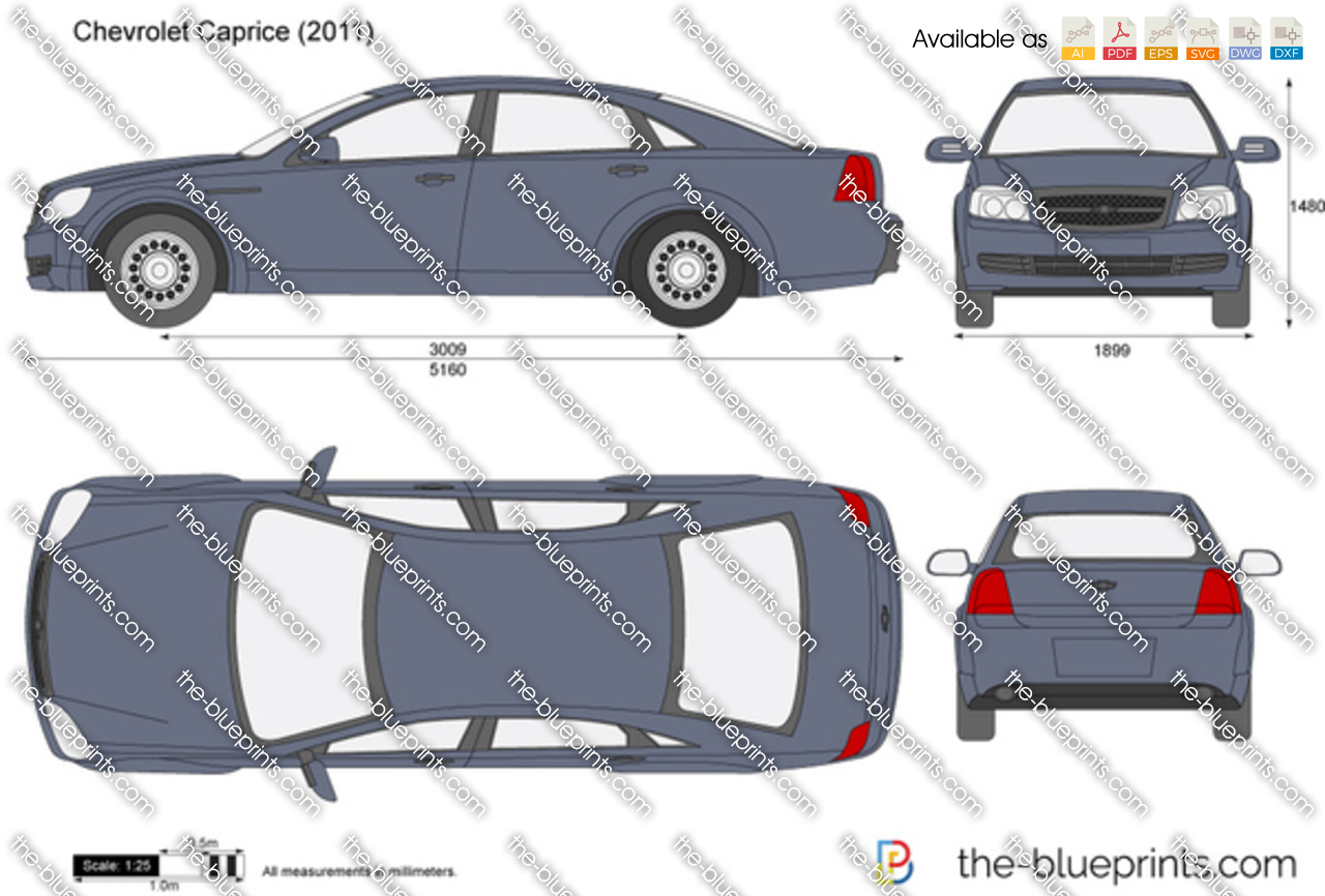 The-Blueprints.com - Vector Drawing - Chevrolet Caprice