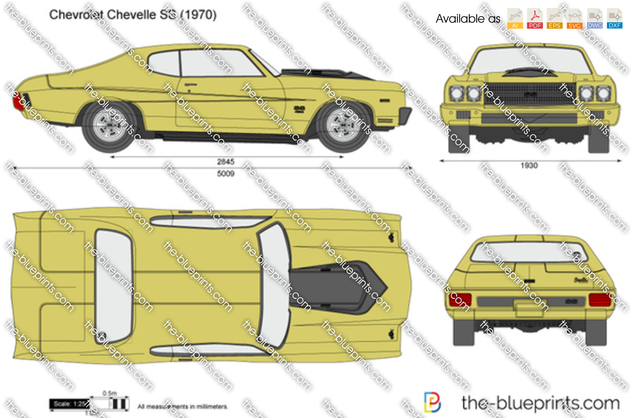 Blueprints Vector Drawing Chevrolet Chevelle