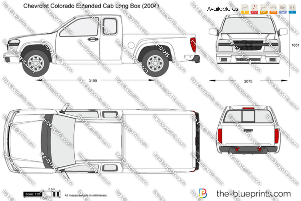 The Blueprints Com Vector Drawing Chevrolet Colorado