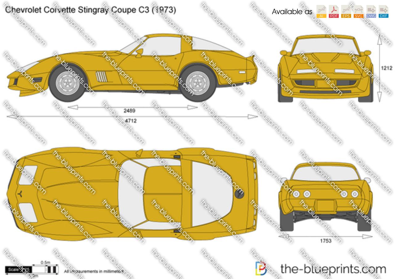 The-Blueprints.com - Vector Drawing - Chevrolet Corvette Stingray