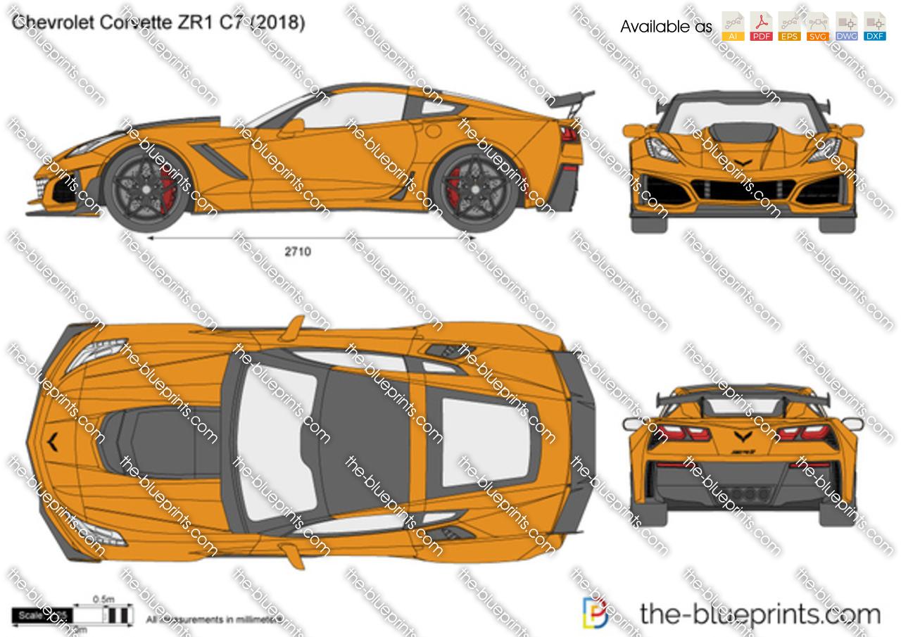 The Blueprints Com Vector Drawing Chevrolet Corvette