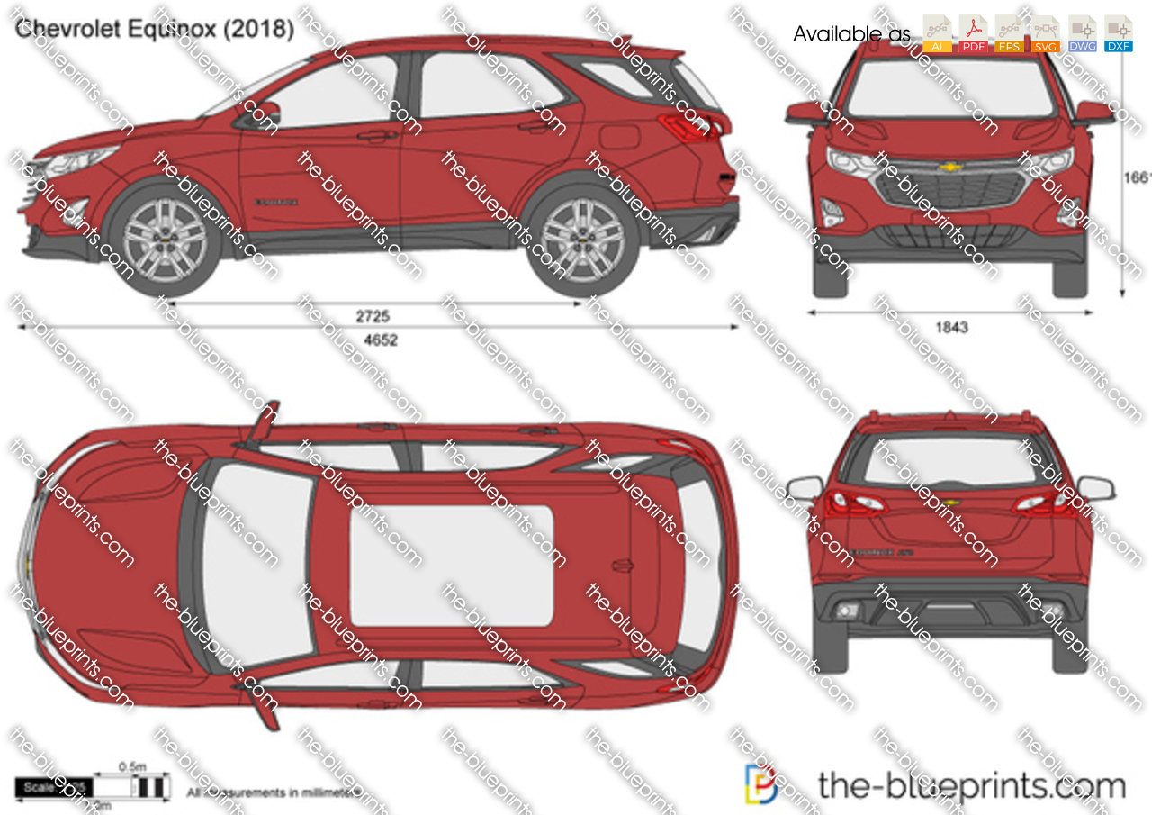 Chevrolet Equinox Vector Drawing