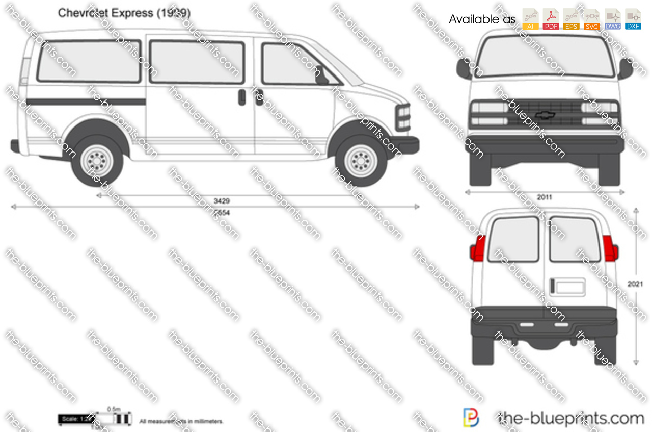 Draw Blueprints Online The Blueprints Com Vector Drawing Chevrolet Express