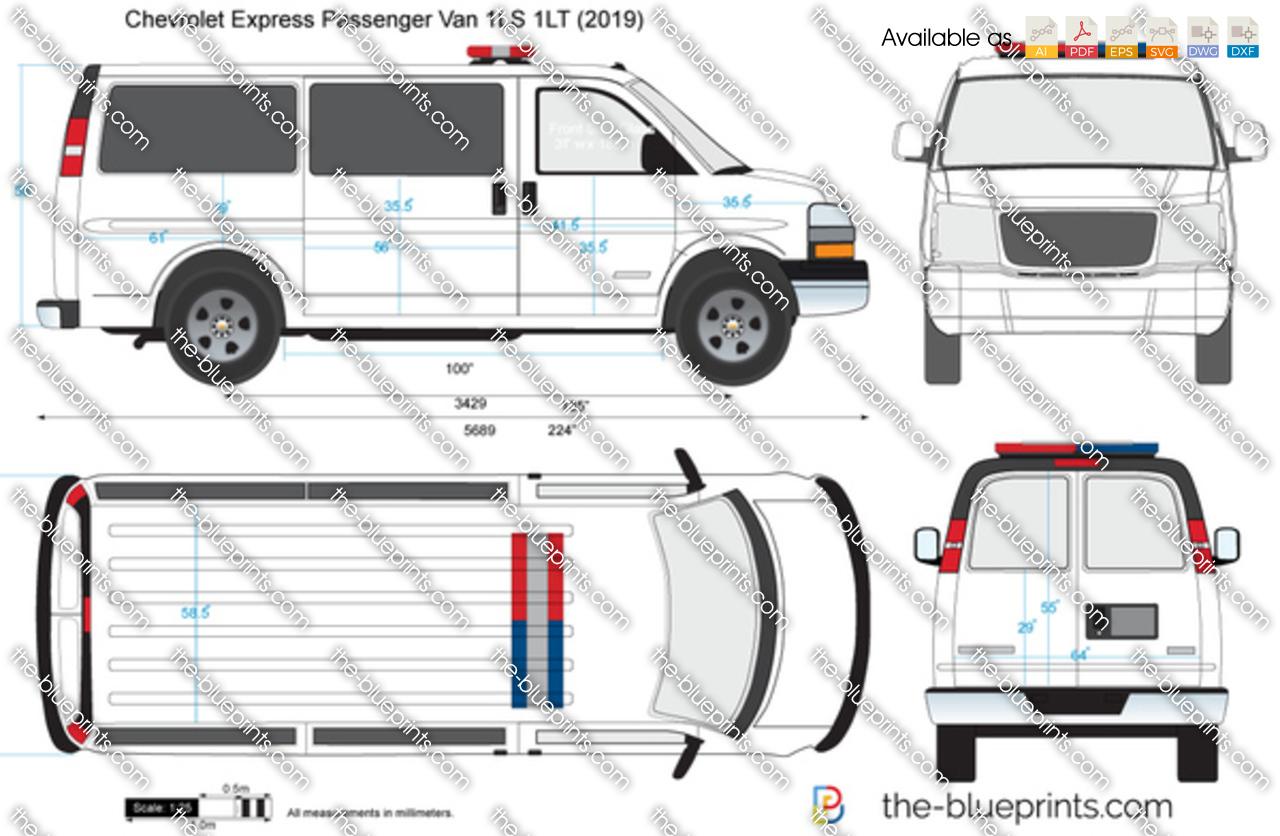 Chevrolet Express Passenger Van 1LS 1LT