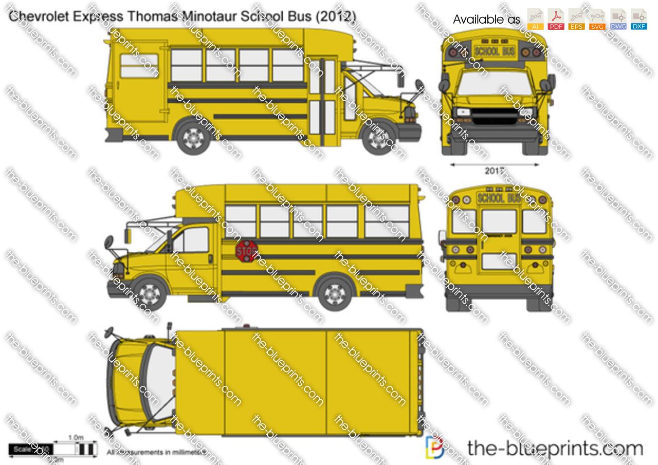 Chevrolet Express Thomas Minotaur School Bus 2013