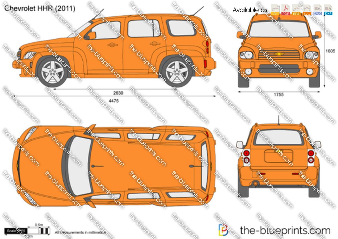 Chevrolet Hhr Vector Drawing