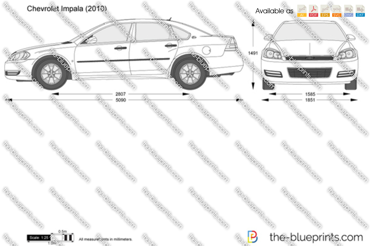 The Blueprints Com Vector Drawing Chevrolet Impala